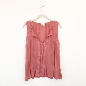 Meadow Rue | Anthropologie Pink Mauve Blouse